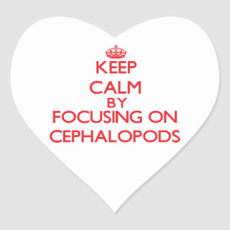 Keep calm by focusing on Cephalopods Heart Sticker