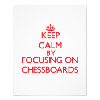 Keep Calm by focusing on Chessboards Flyer