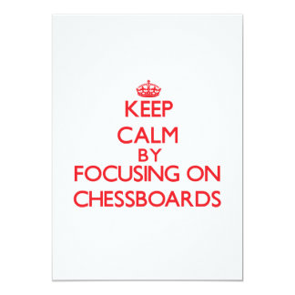 Keep Calm by focusing on Chessboards Announcement