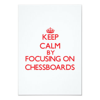 Keep Calm by focusing on Chessboards Custom Announcements