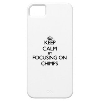 Keep Calm by focusing on Chimps iPhone 5 Case