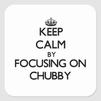 Keep Calm by focusing on Chubby Stickers