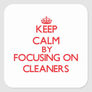Keep Calm by focusing on Cleaners Stickers
