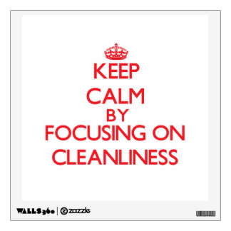 Keep Calm by focusing on Cleanliness Room Stickers