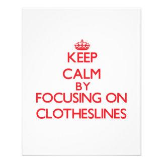 Keep Calm by focusing on Clotheslines Custom Flyer