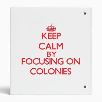 Keep Calm by focusing on Colonies Binder