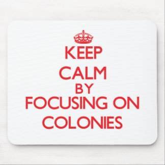 Keep Calm by focusing on Colonies Mouse Pad