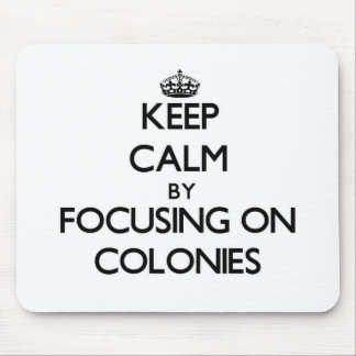 Keep Calm by focusing on Colonies Mouse Pads