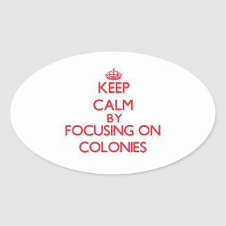 Keep Calm by focusing on Colonies Sticker