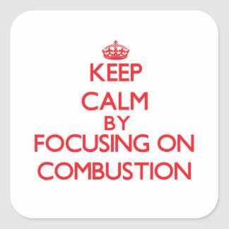 Keep Calm by focusing on Combustion Stickers