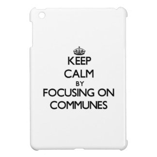 Keep Calm by focusing on Communes Case For The iPad Mini