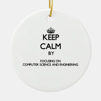 Keep calm by focusing on Computer Science And Engi Ornament