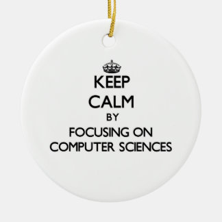 Keep calm by focusing on Computer Sciences Christmas Ornaments