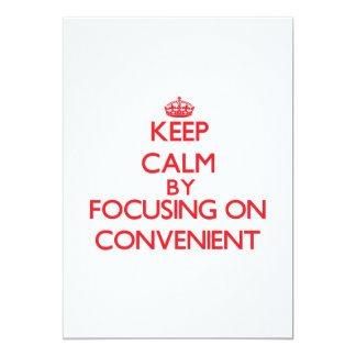 Keep Calm by focusing on Convenient 5x7 Paper Invitation Card
