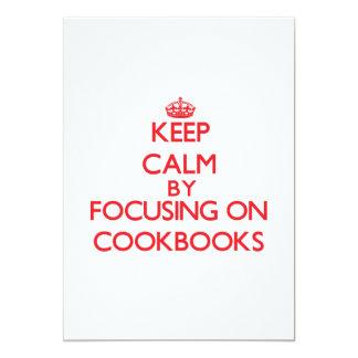 Keep Calm by focusing on Cookbooks Custom Invites