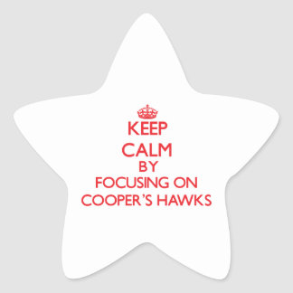Keep calm by focusing on Cooper's Hawks Stickers