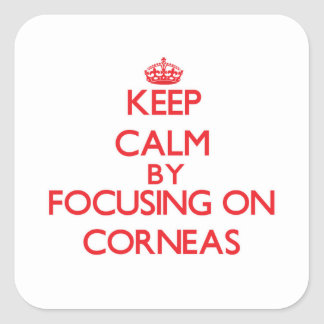 Keep Calm by focusing on Corneas Stickers