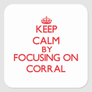 Keep Calm by focusing on Corral Stickers
