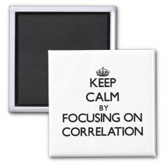 Keep Calm by focusing on Correlation Fridge Magnet