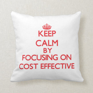 Keep Calm by focusing on Cost-Effective Throw Pillows