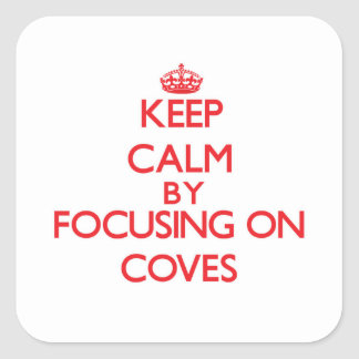 Keep Calm by focusing on Coves Sticker