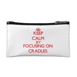 Keep Calm by focusing on Cradles Cosmetic Bag