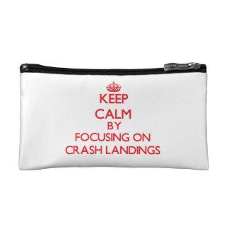 Keep Calm by focusing on Crash Landings Cosmetic Bag