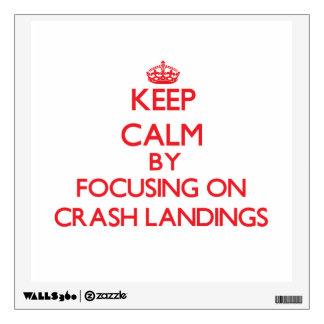 Keep Calm by focusing on Crash Landings Room Decals