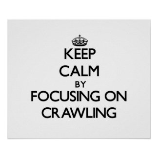 Keep Calm by focusing on Crawling Posters