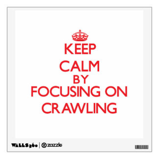 Keep Calm by focusing on Crawling Wall Decals
