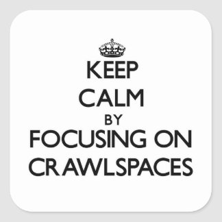 Keep Calm by focusing on Crawlspaces Square Sticker