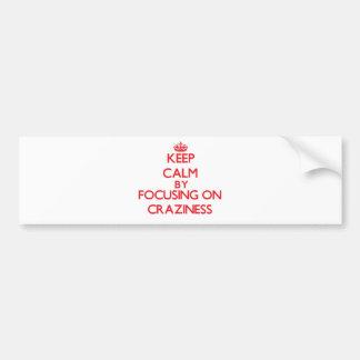 Keep Calm by focusing on Craziness Bumper Sticker
