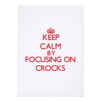 Keep Calm by focusing on Crocks Cards