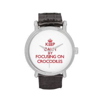 Keep calm by focusing on Crocodiles Watch