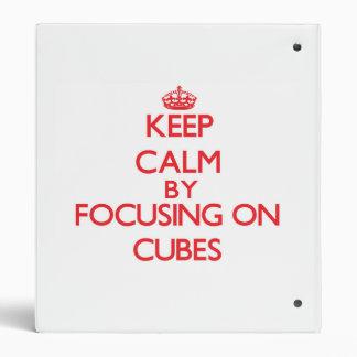 Keep Calm by focusing on Cubes Binder