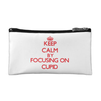 Keep Calm by focusing on Cupid Cosmetic Bags