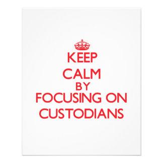 Keep Calm by focusing on Custodians Flyer Design