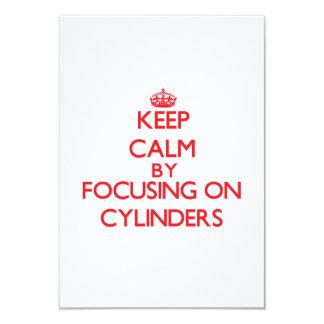 Keep Calm by focusing on Cylinders Custom Invites