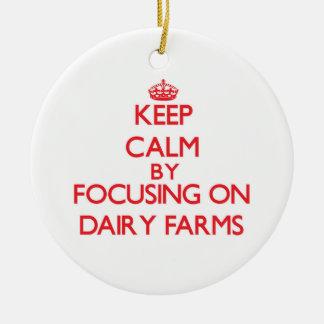 Keep Calm by focusing on Dairy Farms Christmas Ornament