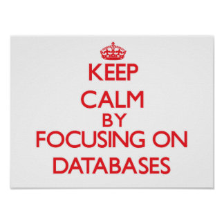 Keep Calm by focusing on Databases Poster