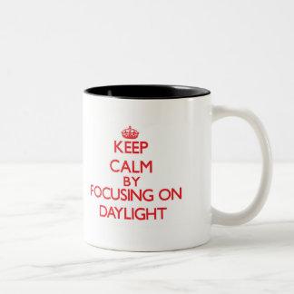 Keep Calm by focusing on Daylight Two-Tone Coffee Mug
