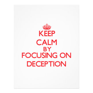 Keep Calm by focusing on Deception Personalized Flyer