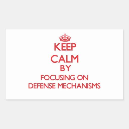 Keep Calm by focusing on Defense Mechanisms Sticker