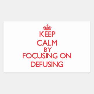 Keep Calm by focusing on Defusing Sticker