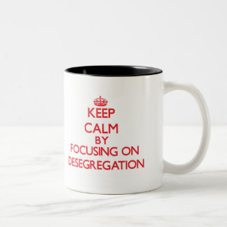 Keep Calm by focusing on Desegregation Mugs