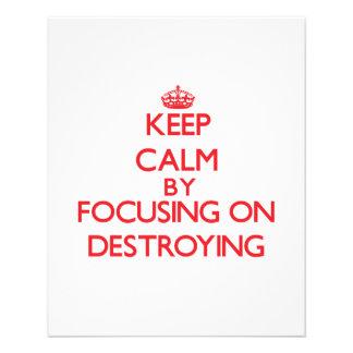 Keep Calm by focusing on Destroying Custom Flyer
