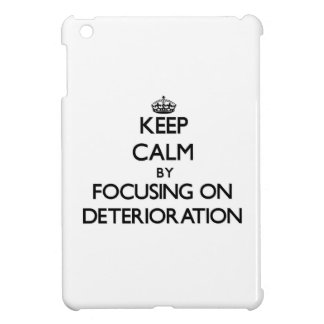 Keep Calm by focusing on Deterioration Cover For The iPad Mini