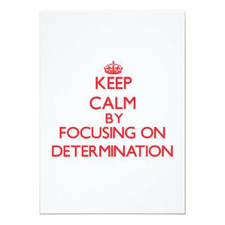 Keep Calm by focusing on Determination Custom Announcement