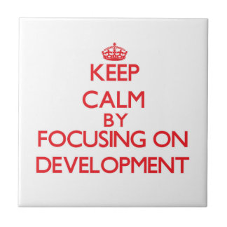 Keep Calm by focusing on Development Tile