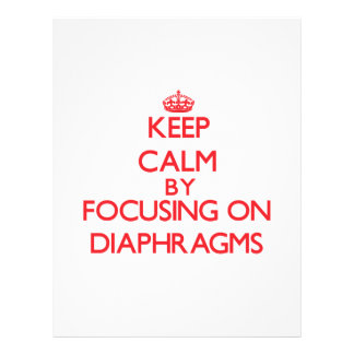 Keep Calm by focusing on Diaphragms Flyer